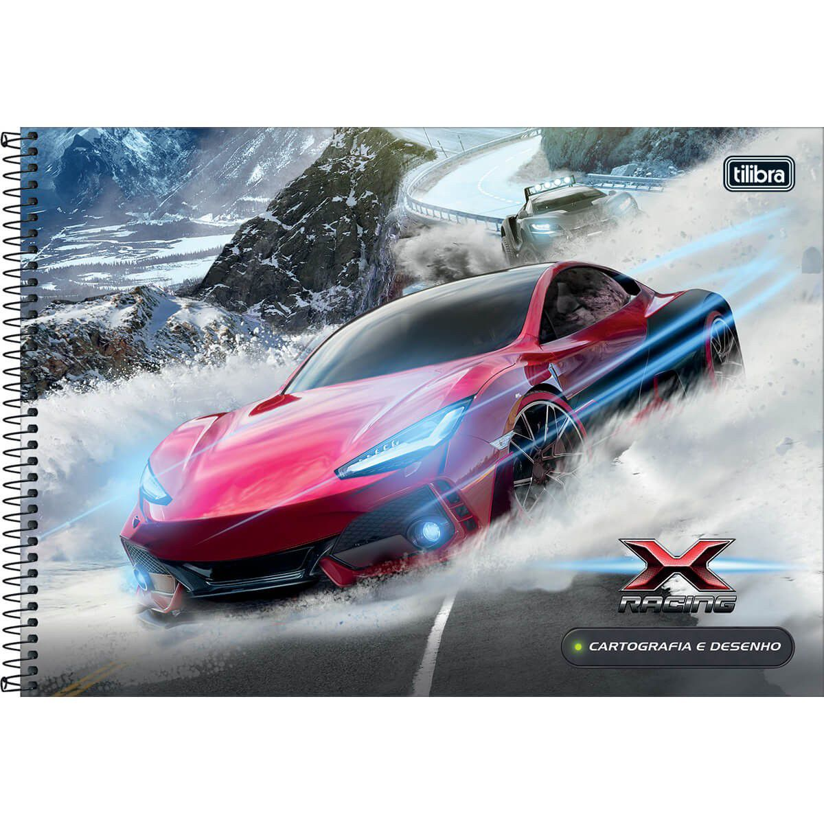 Caderno Tilibra Capa Dura Cartografia Espiral X-Racing 80 Fls 306126 27852