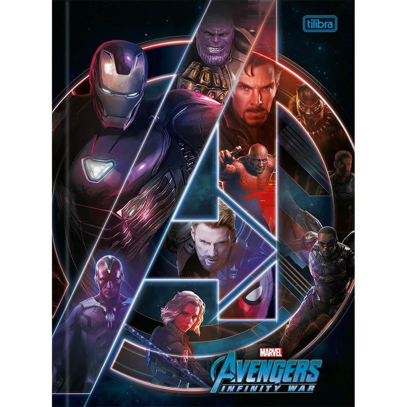 Caderno Tilibra Capa Dura Costurado Universitário 1X1 80 Fls Avengers Infinity War 293644 26387