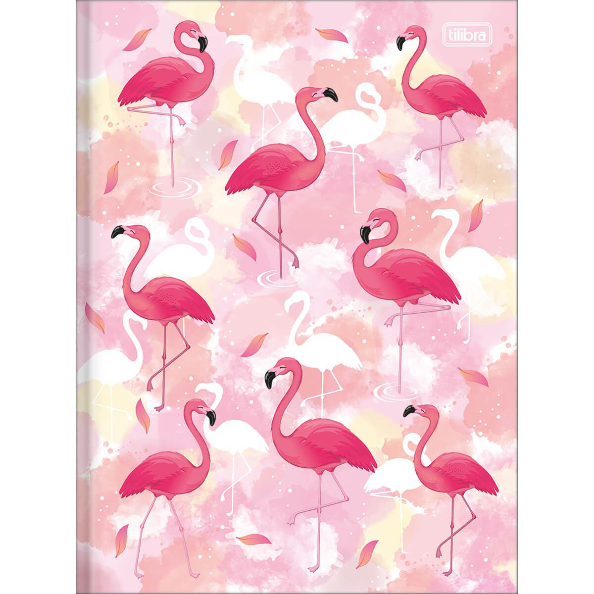 Caderno Tilibra Capa Dura Costurado Universitário 1X1 80 Fls Flamingo Aloha 292575 26384
