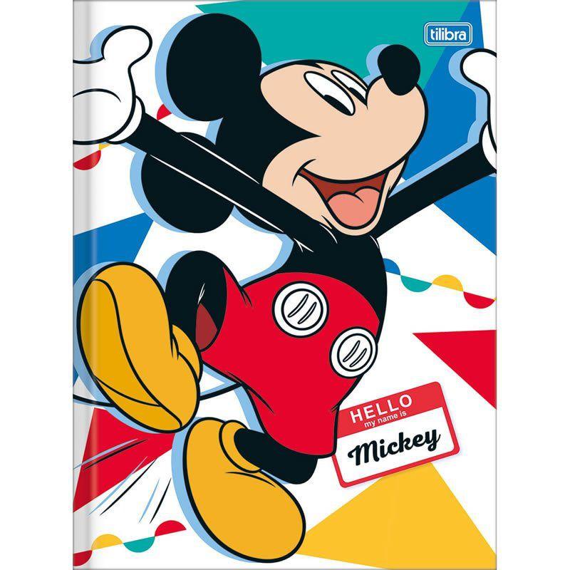 Caderno Tilibra Capa Dura Costurado Universitário 1X1 80 Fls Mickey 147214 26389
