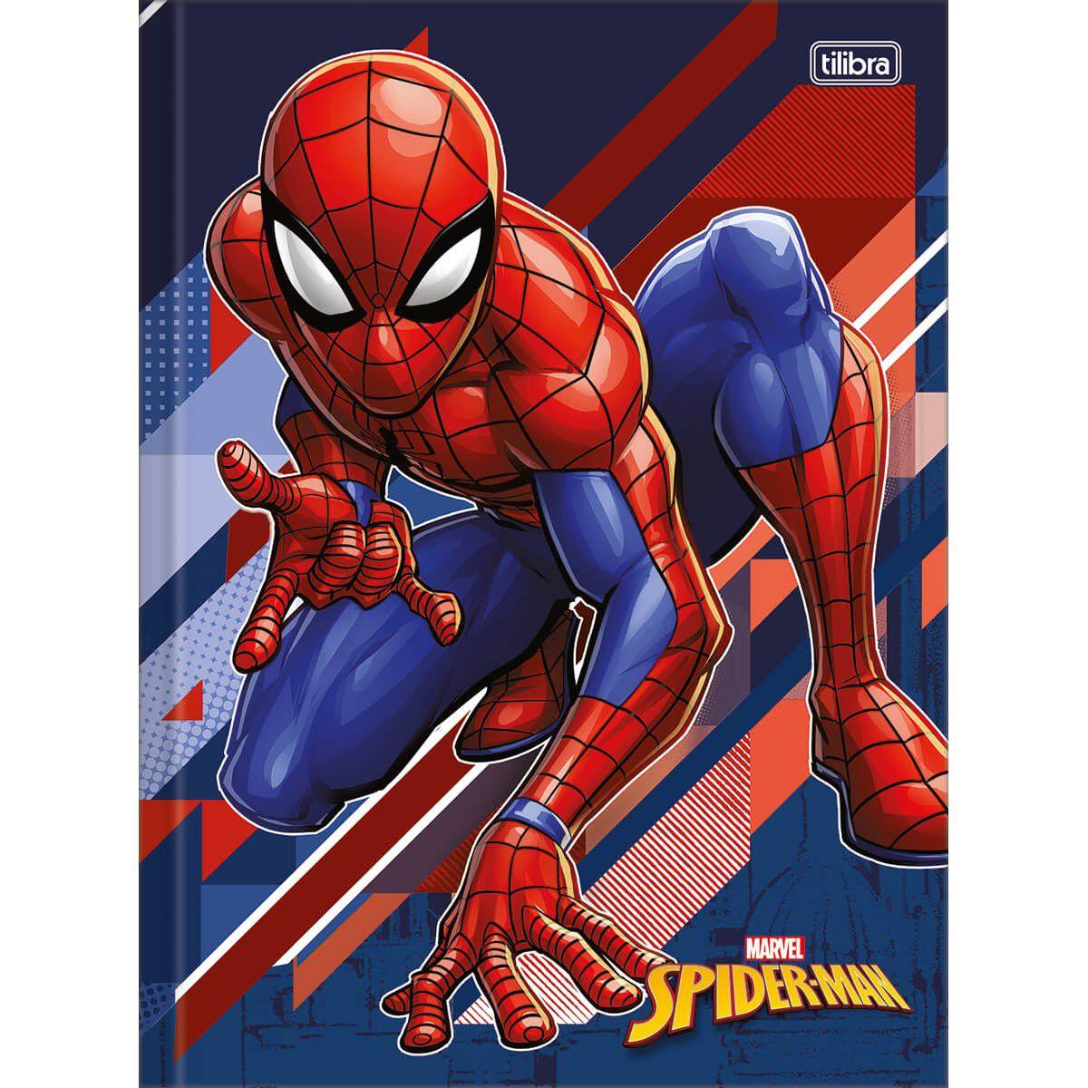 Caderno Tilibra Capa Dura Costurado Universitário 48 Fls Spider Man 143979 27848