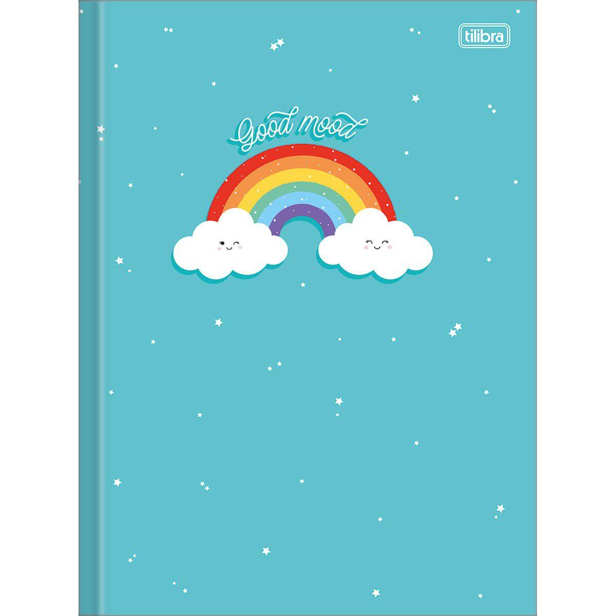 Caderno Tilibra Capa Dura Costurado Universitário 80 Fls Rainbow 309524 27843