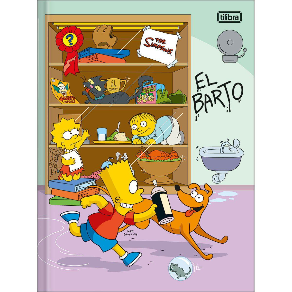 Caderno Tilibra Capa Dura Costurado Universitário 80 Fls The Simpsons 308901 27849