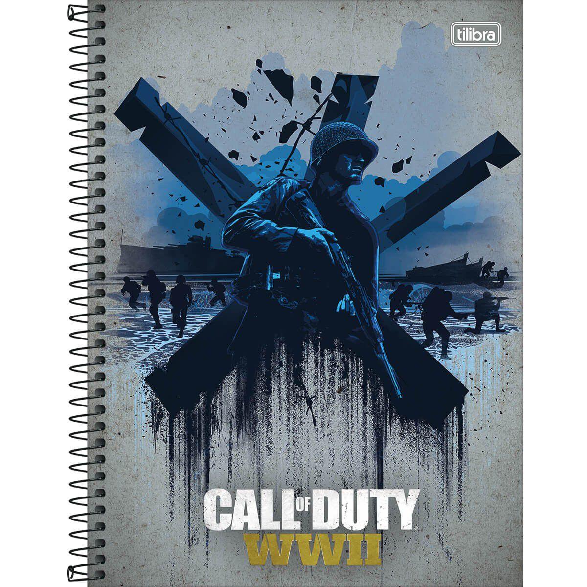 Caderno Tilibra Capa Dura Universitário Call Duty 1X1 96 Fls 150746 26369
