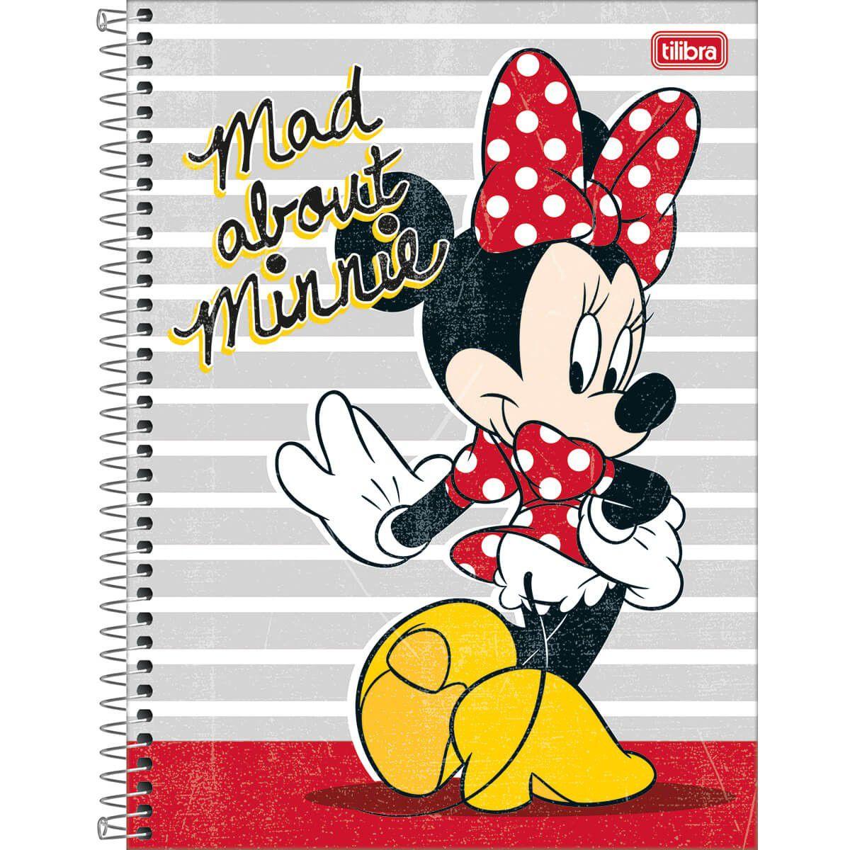 Caderno Tilibra Capa Dura Universitário Minnie Light 1M 80 Fls 310832 27805