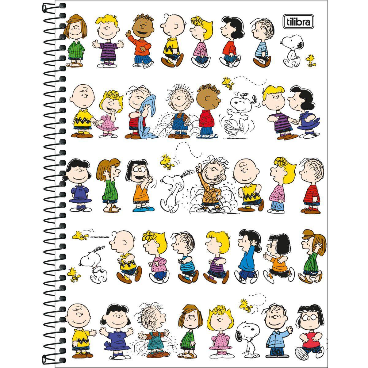 Caderno Tilibra Capa Dura Universitário Snoopy 10M 160 Fls 308242 27817