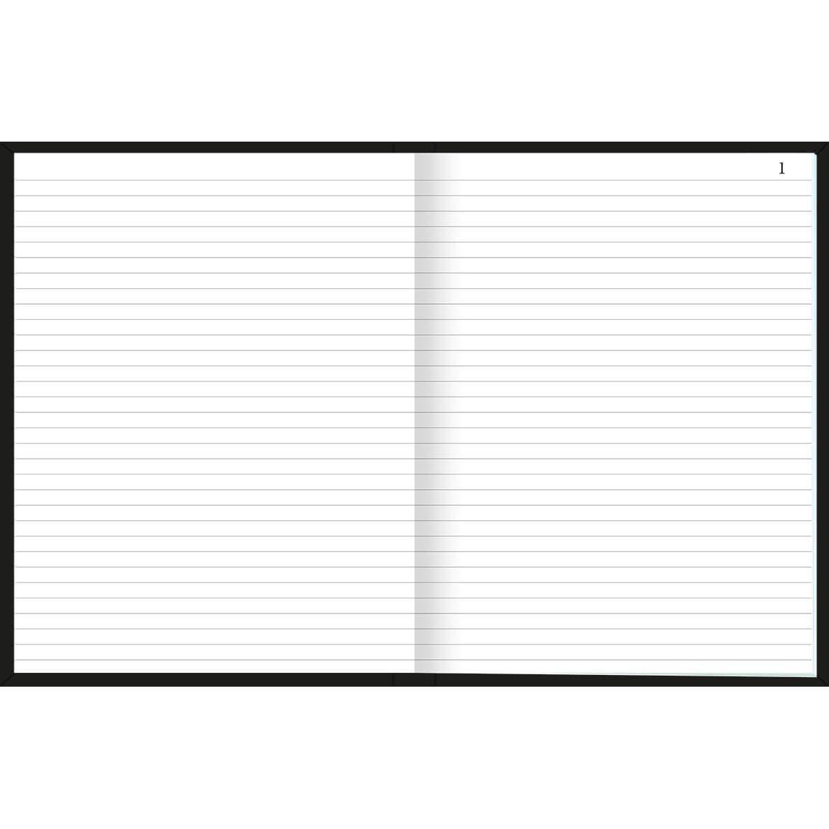 Caderno Tilibra Folhas Numeradas Costurado Universitário 100 Fls Preta 233536 25340