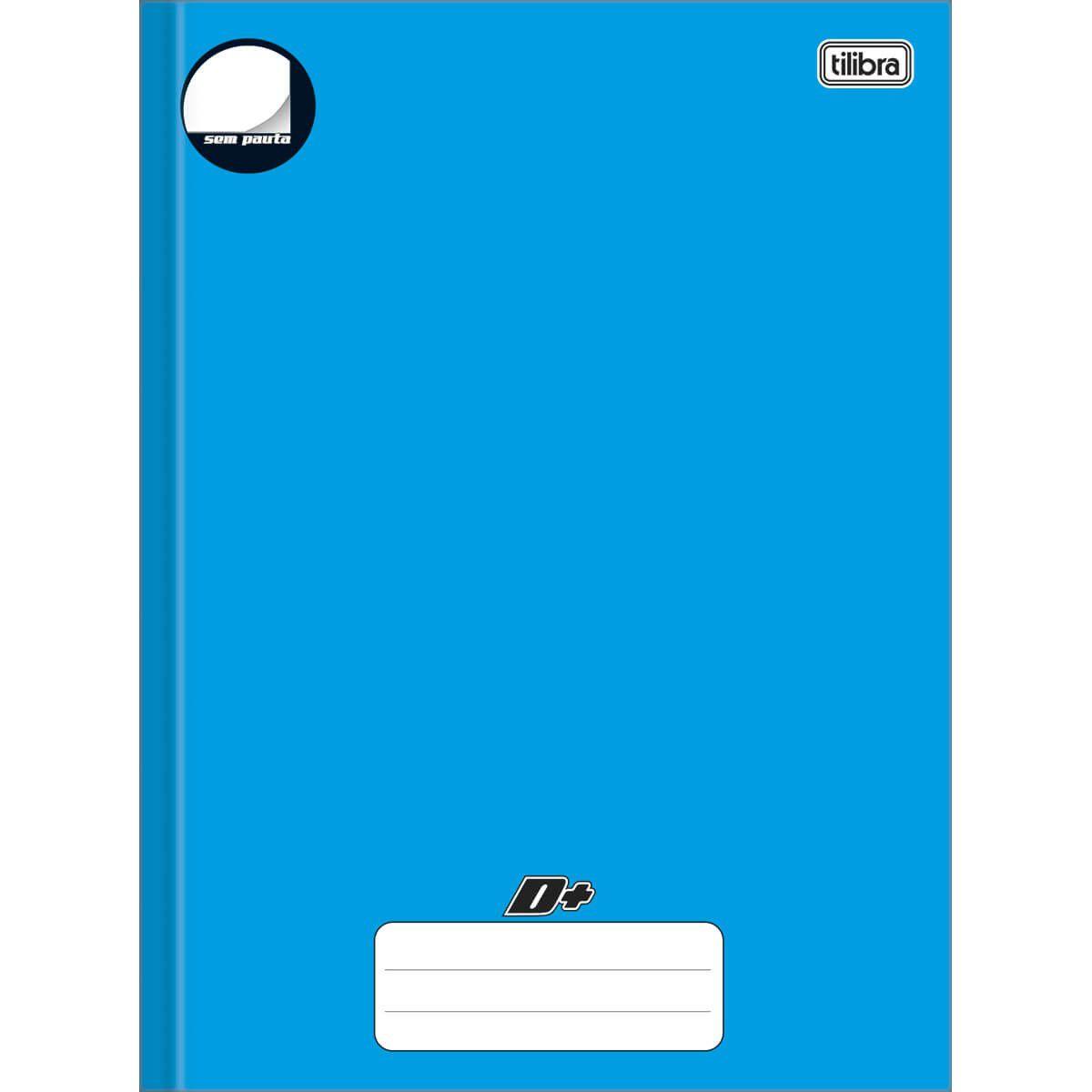Caderno Tilibra Mais Capa Dura Costurado Universitário 96 Fls Azul Sem Pauta 05071