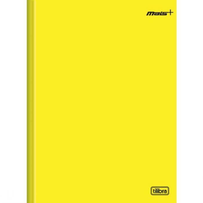 Caderno Mais Capa Dura Costurado Amarelo 1/4 (Tamanho Pequeno) 96 Fls 116729 Tilibra 16886