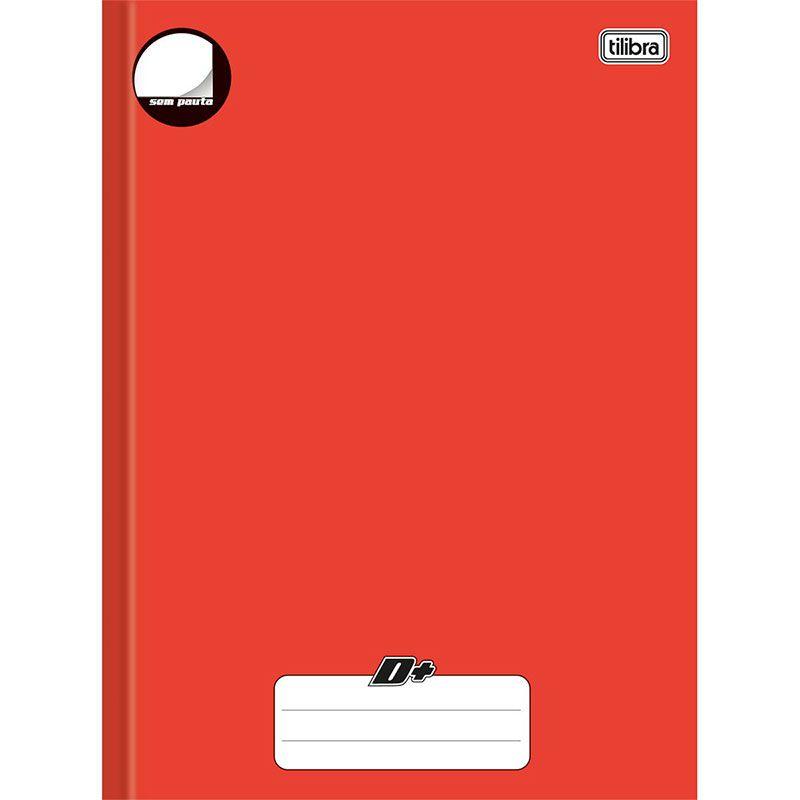 Caderno Tilibra Mais Universitário 96 folhas Vermelho Sem Pauta 140422 05074