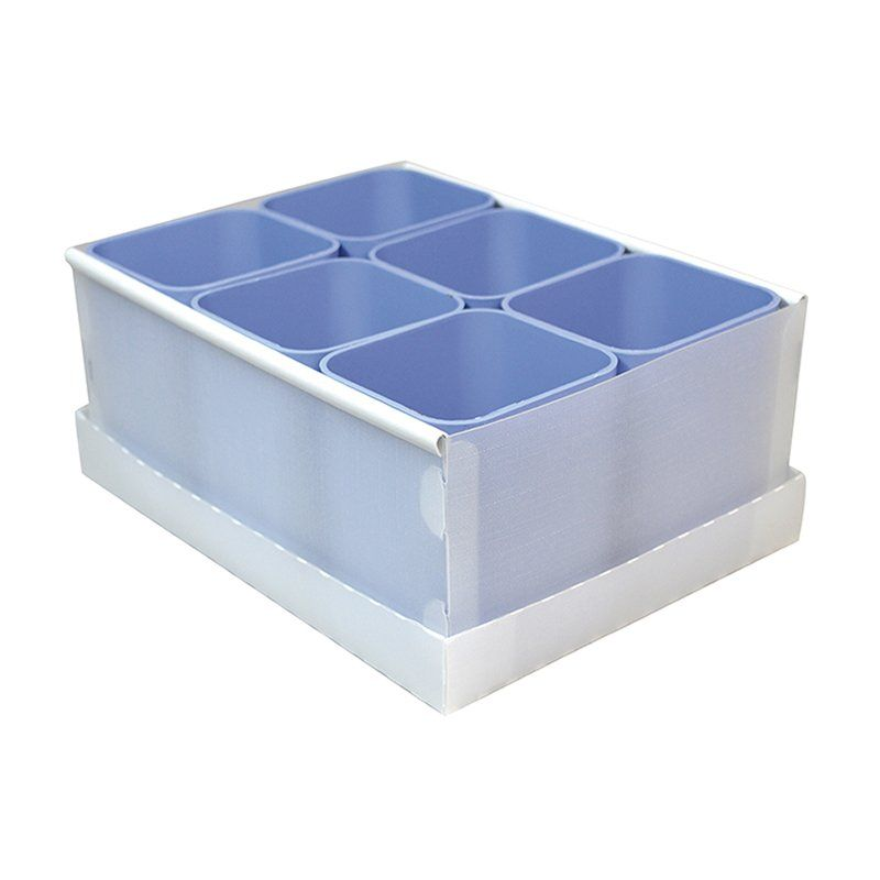 Caixa Organizadora Com 6 Porta Objetos Azul Dello 2193.B.0004 25943