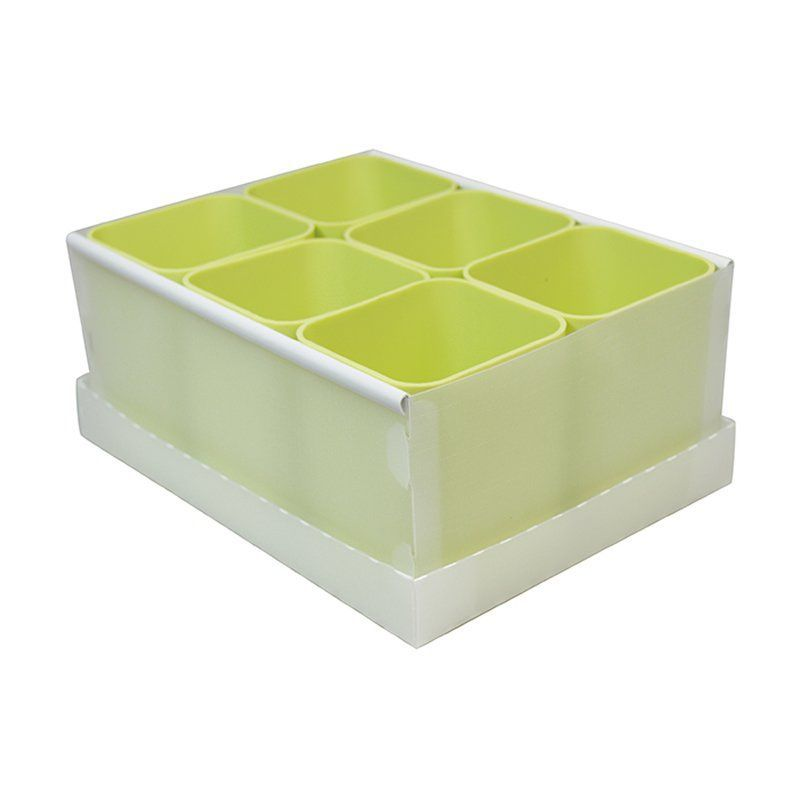 Caixa Organizadora Com 6 Porta Objetos Verde Pastel Dello 2193.V.0004 25944