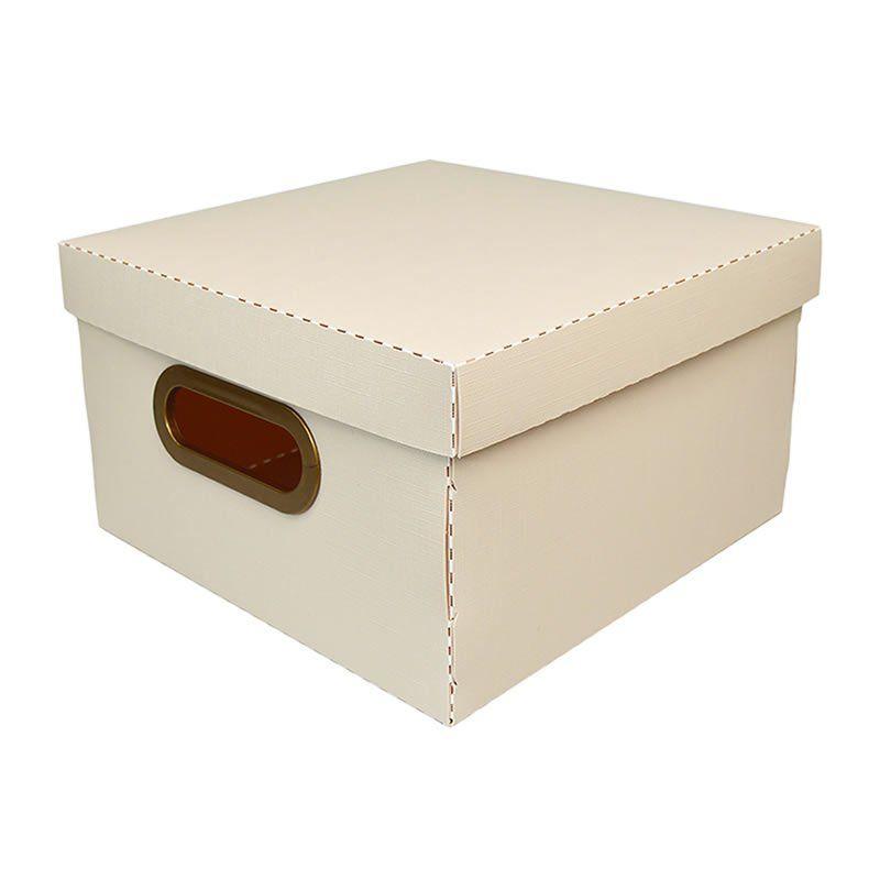 Caixa Organizadora Dello 25X25X15Cm P Linho Rosa 2204.W 26191