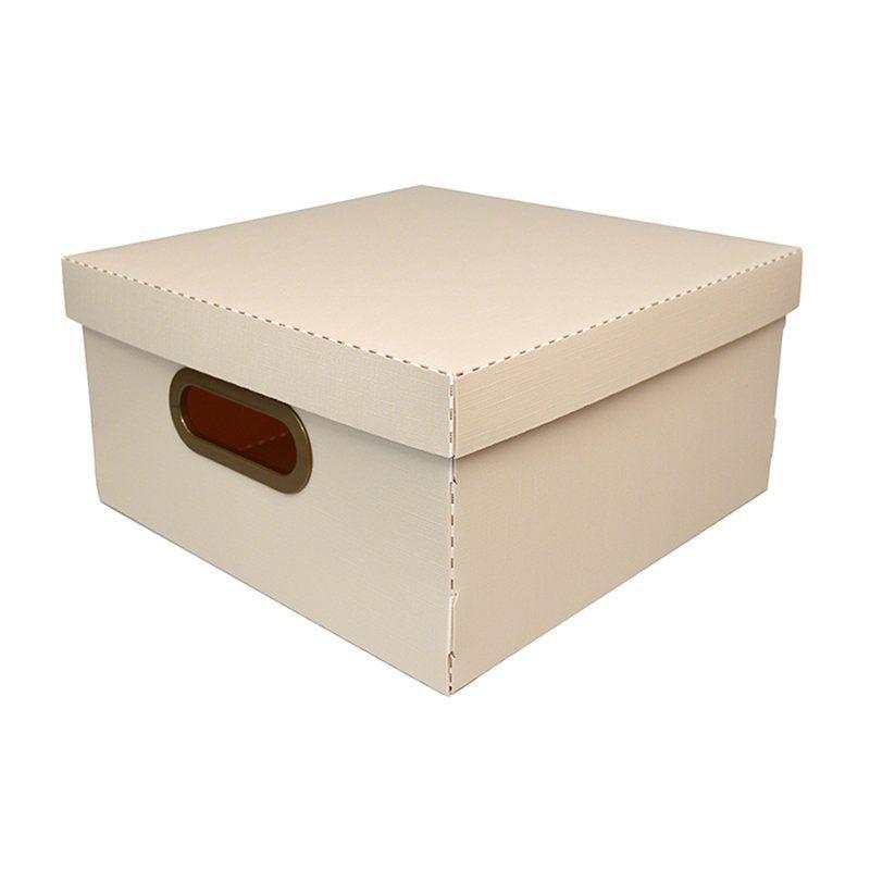Caixa Organizadora Dello 29X29X15Cm M Linho Rosa 2205.W 26192
