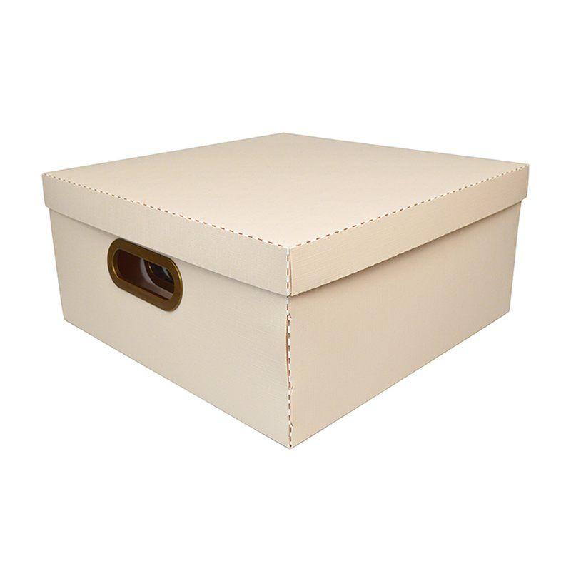 Caixa Organizadora Dello 35X35X16Cm G Linho Rosa 2206.W 26193