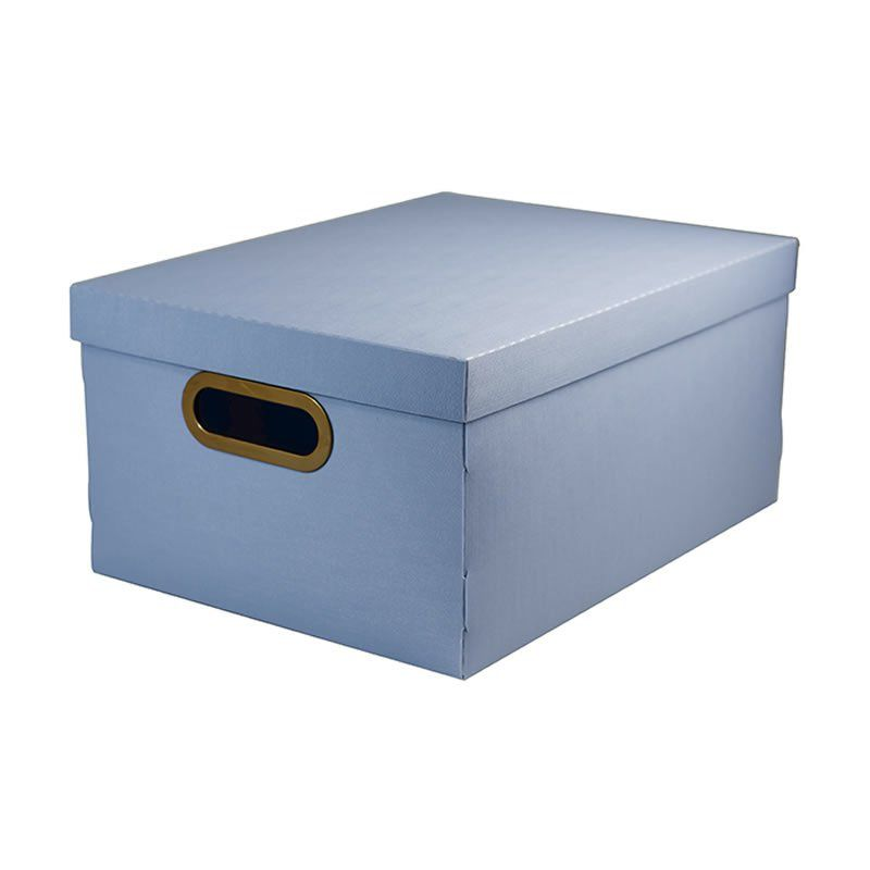Caixa Organizadora Dello 38X29X18,5Cm Linho Azul Pastel 2192.B.0005 26178
