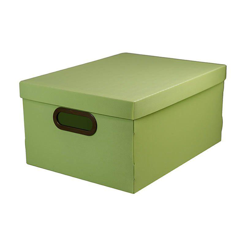 Caixa Organizadora Dello 38X29X18,5Cm Linho Verde Pastel 2192.V.0005 26179