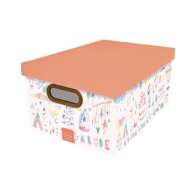 Caixa Organizadora Dello 38X29X18Cm Crianca Feliz 2213.02.0005 27153