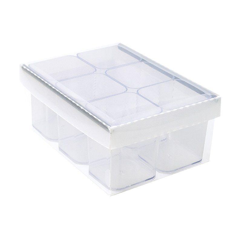 Caixa Organizadora Dello Com 6 Porta Objetos Cristal Dello 2193.H.0004 25872