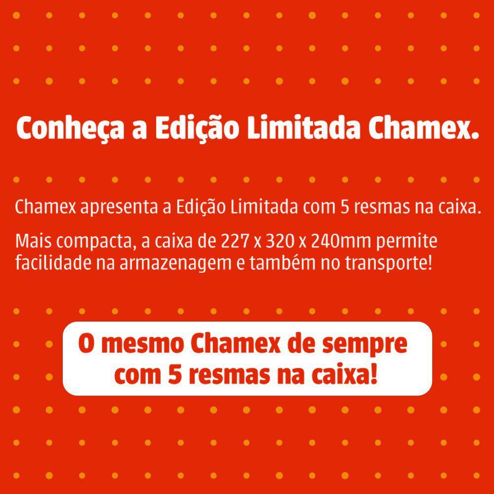 Caixa de Papel A4 Chamex 75g Com 5 Pacotes de 500 Fls 29187