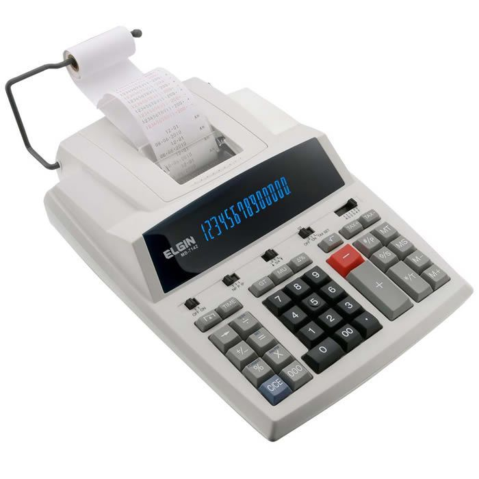 Calculadora de Mesa com Bobina 14 Digitos MB7142 Elgin 02400