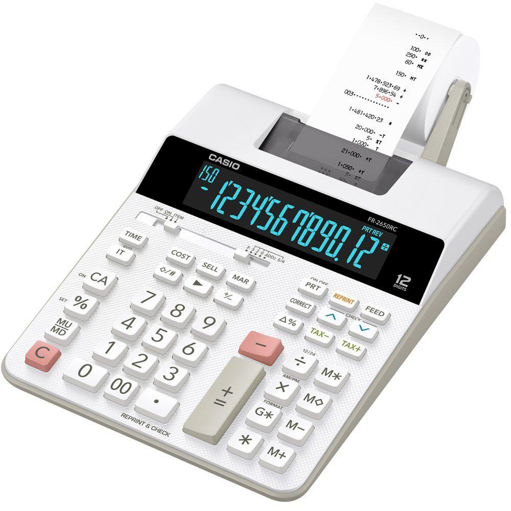 Calculadora de Mesa com Bobina Display LED Bivolt Branca FR-2650RC Casio 25316