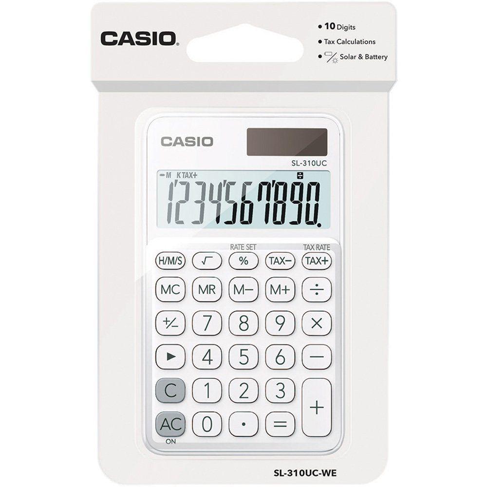 Calculadora Casio de Bolso SL-310Uc-We-N-Dc My Style 10 Digitos Branca 28242