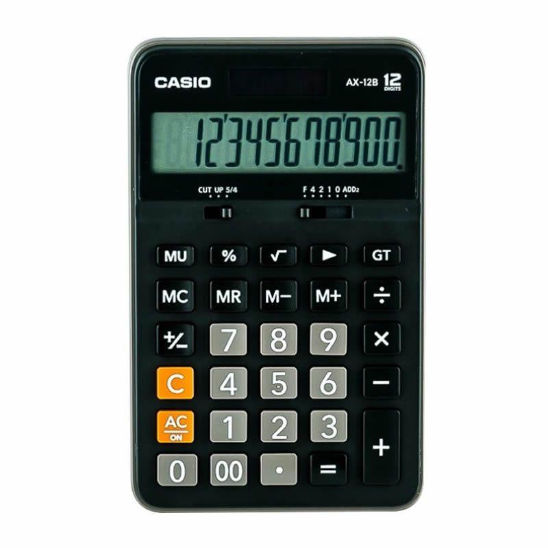 Calculadora Casio de Mesa AX-12B-W-Dc 12 Digitos Preta Acabamento Pl 28219