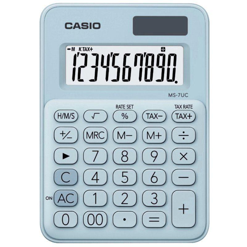 Calculadora Casio de Mesa Mini MS-7Uc-Lb-N-Dc My Style 10 Digitos Azul Claro 28234