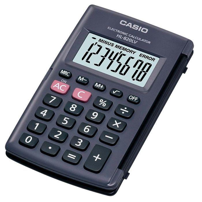 7f80a176b0a Calculadora de Bolso 8 Dígitos com Tampa Preta Hl-820Lv Casio 21720