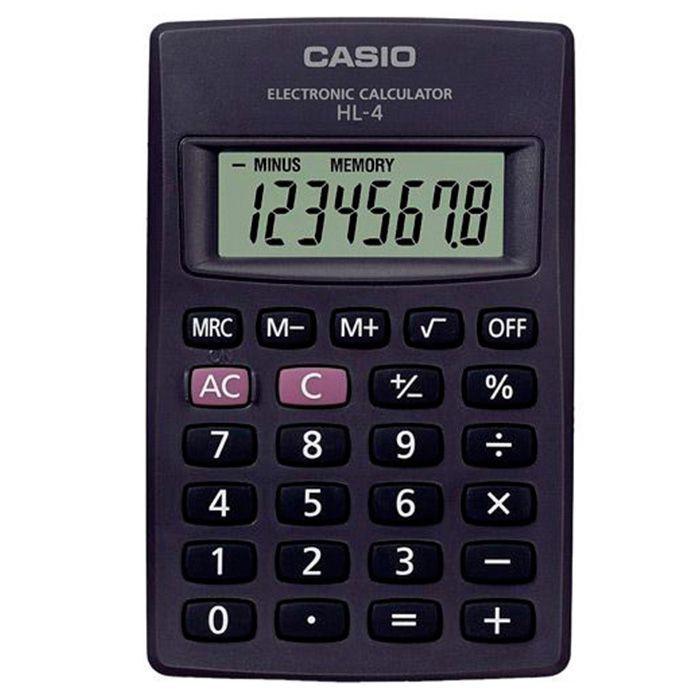 Calculadora de Bolso 8 Dígitos Preta HL-4A Casio 21719