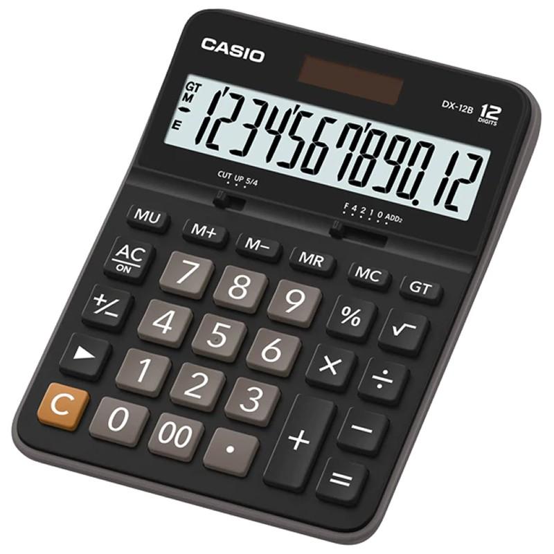 Calculadora de Mesa 12 Dígitos DX-12B Preta Casio 21728