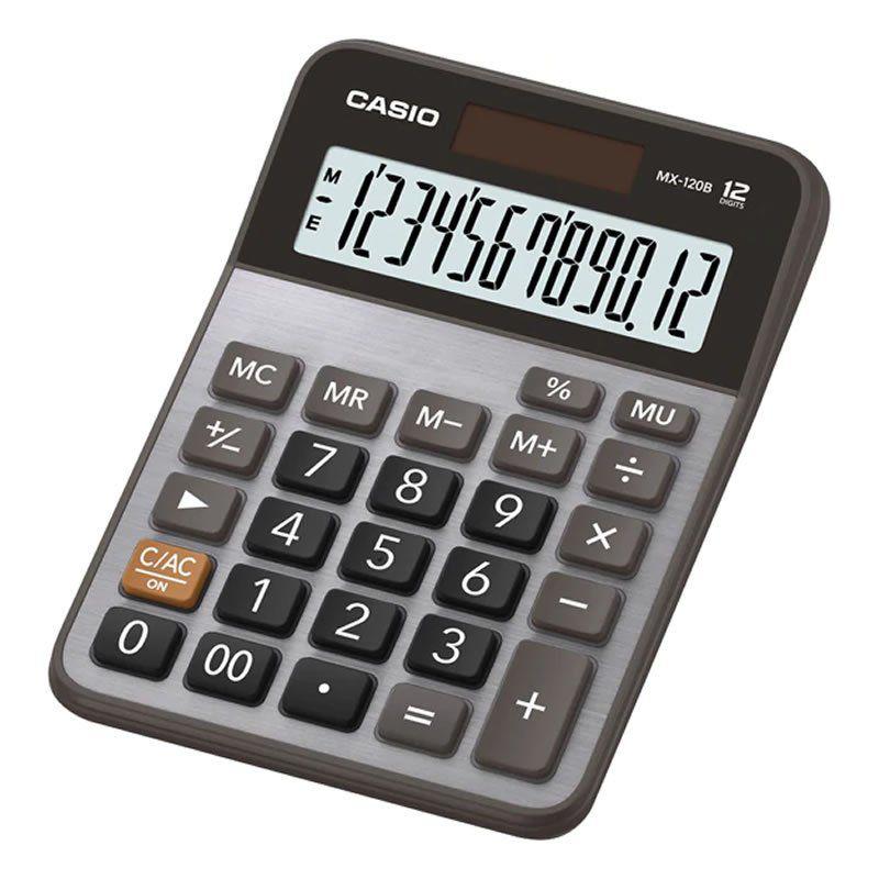Calculadora de Mesa 12 Dígitos Prata MX-120B Casio 21727