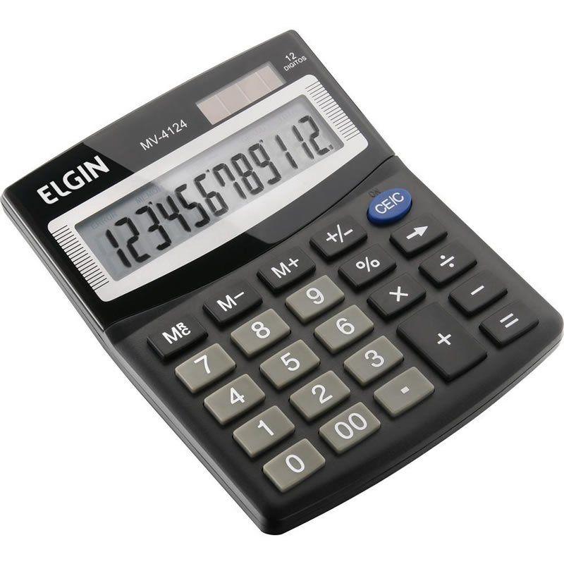 Calculadora de Mesa 12 Dígitos Preta MV4124 Elgin 24461