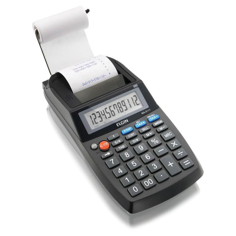 Calculadora de Mesa com Bobina 12 Dígitos MA5111 Elgin 15348