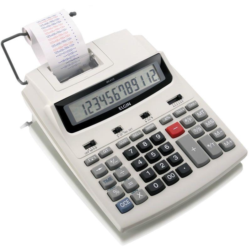 Calculadora de Mesa com Bobina 12 Digitos Leve MR-6125 Elgin 19502