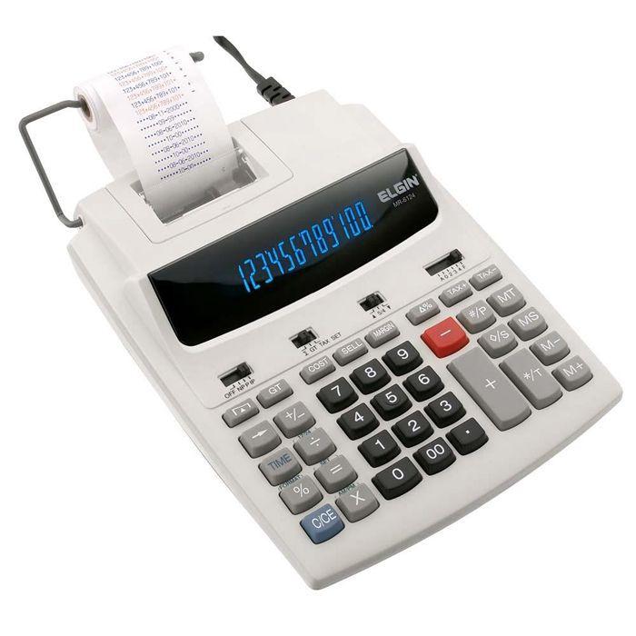 Calculadora de Mesa com Bobina 12 Dígitos MR-6124 Elgin 07596