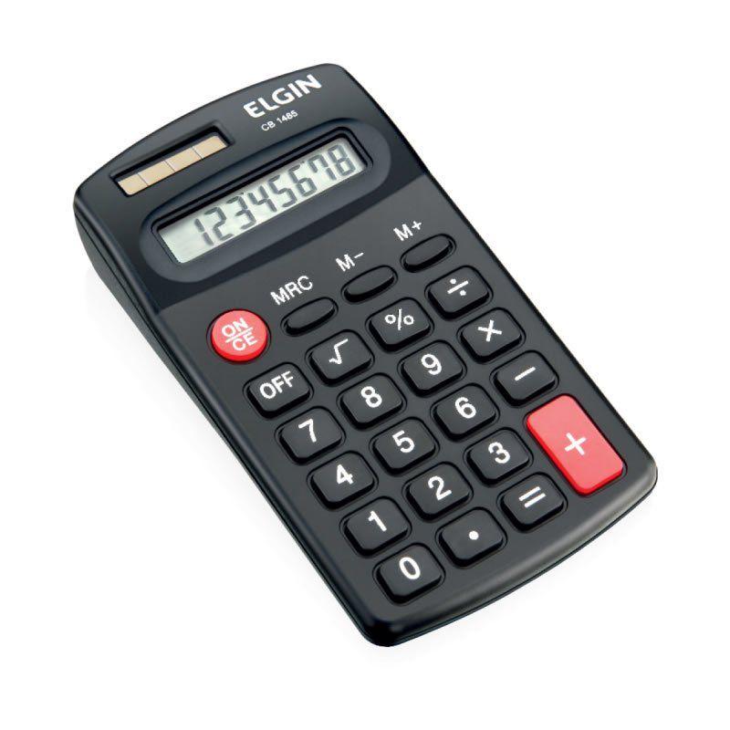 Calculadora Elgin Bolso Solar / Pilha 8 Digitos Cb1485 19586