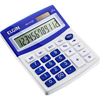 Calculadora de Mesa 12 Digitos Azul MV-4125 24458