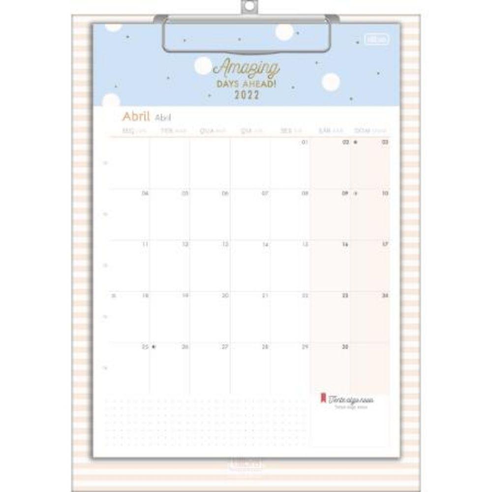 Calendário Planner Prancheta Soho Tons Pastel 291200 Tilibra 26356