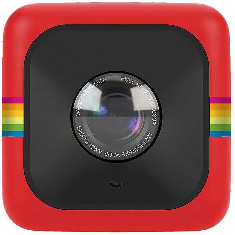 Câmera de Ação Full HD Cube Polaroid Vermelha 27414