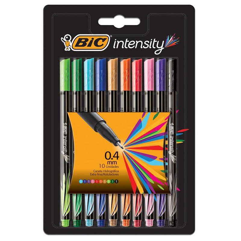 Caneta BIC Intensity Point Utra Fina 0.4 Com 10 Cores 930193 25154