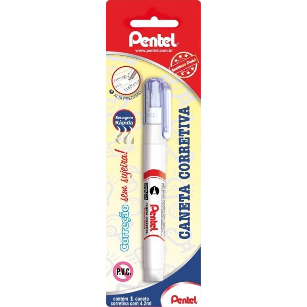 Caneta Corretiva Pentel 4,2Ml Zl61S-Wbs 21610