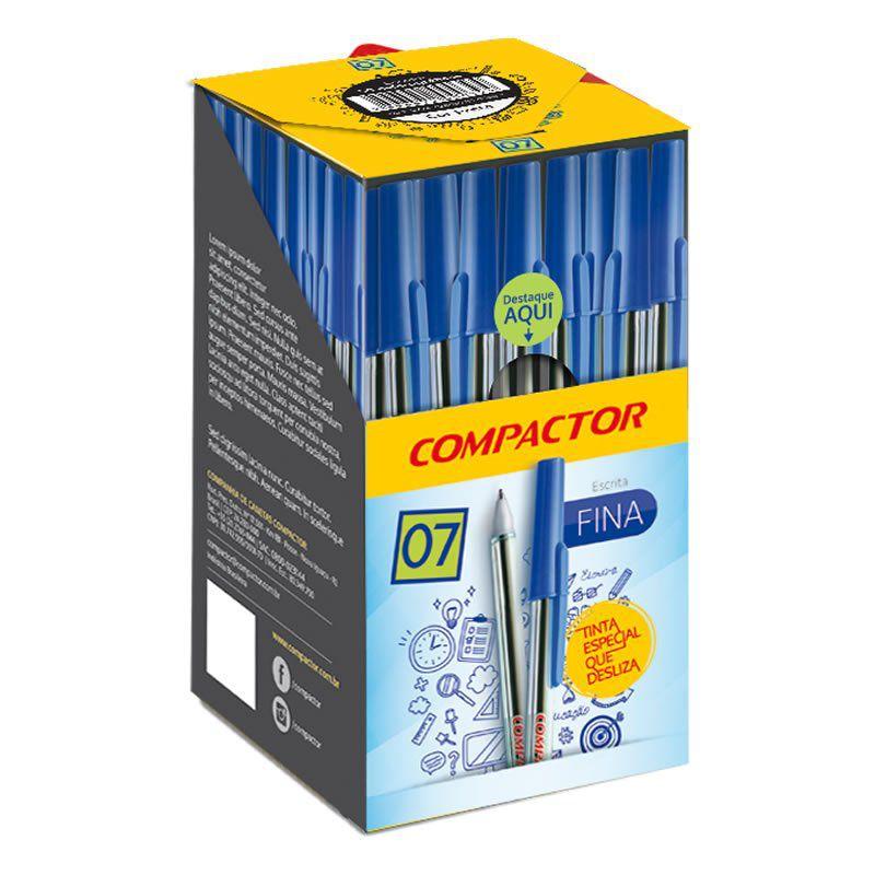Caneta Esferográfica Compactor 0.7 Preta Caixa Com 50 Un 02796