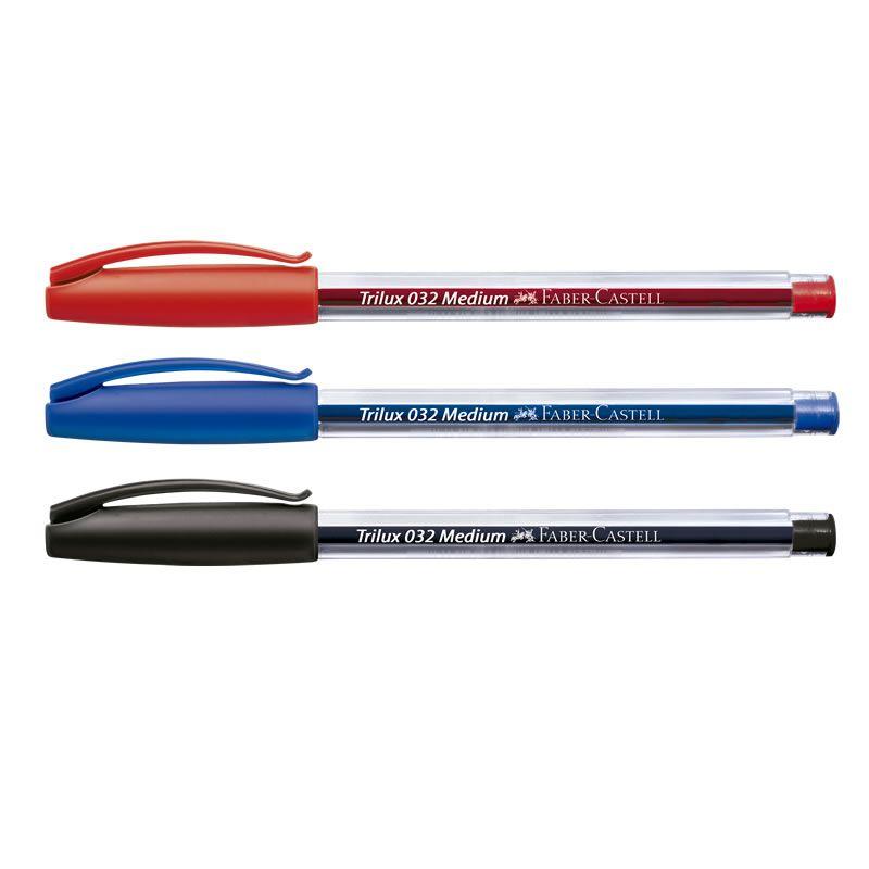 Caneta Esferografica Faber-Castell Trilux 5 Un 2 Azuis + 2 Pretas + 1 Vermelha 032/Office 26248