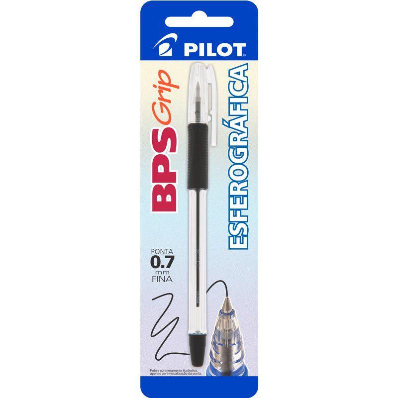 Caneta Esferográfica Preta 0.7mm BPS-Grip Pilot 01753