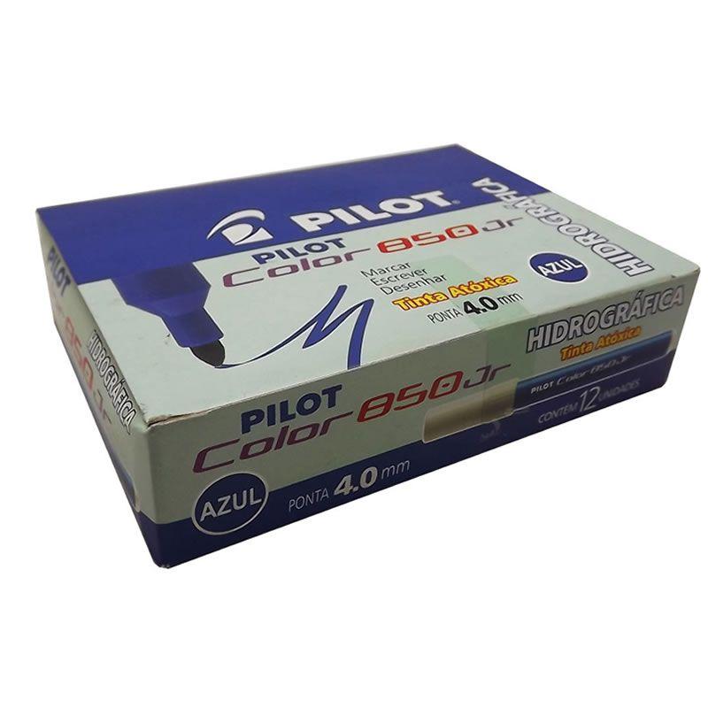 Caneta Hidrográfica Azul Color 850 Junior Caixa Com 12 Un. Pilot 14721