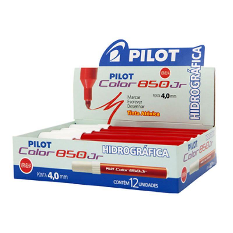 Caneta Hidrográfica Vermelha Color 850 Junior Caixa Com 12 Un. Pilot 15095