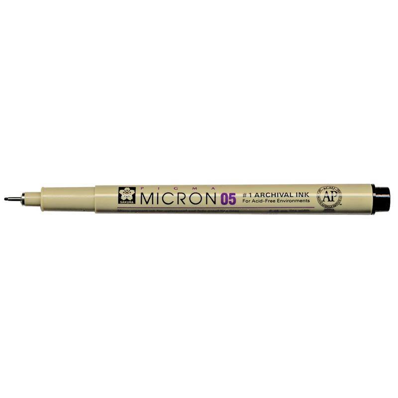 Caneta Nankim Pigma Micron 0.5 Preta Sakura XSDK05#49 27392