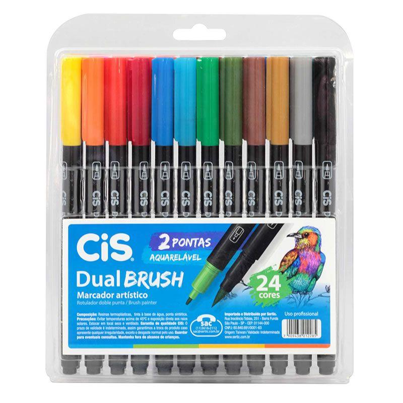 Caneta Pen Brush CiS Dual Brush 24 Cores 58.0200 27333